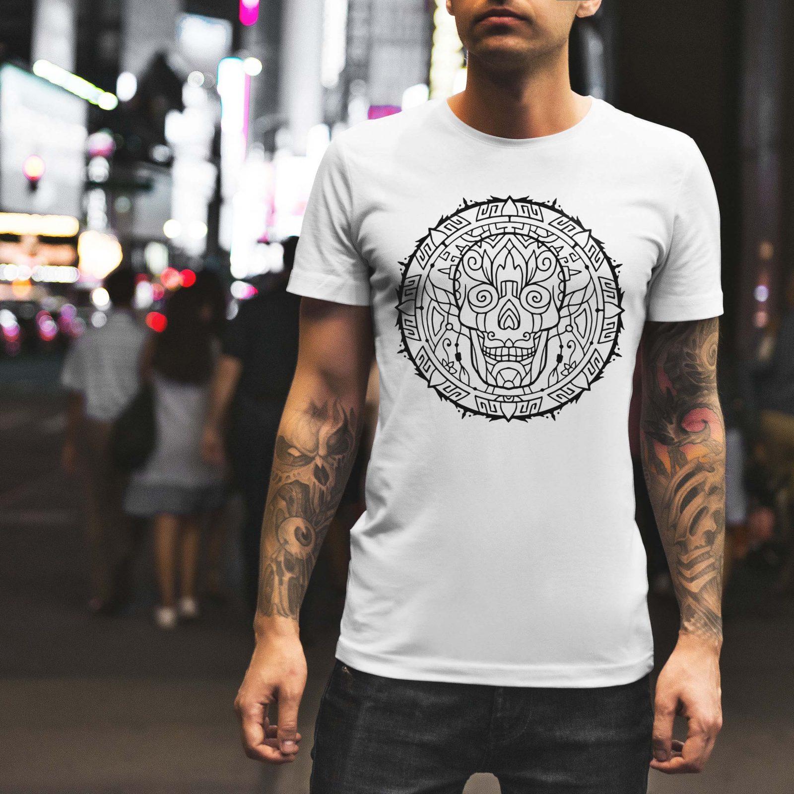 Мъжка тениска Mandala M 001 - на супер цени от ZeroBG